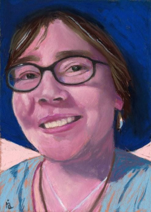 """facebook friend portrait #4 - Sarah"" original fine art by Ria Hills"