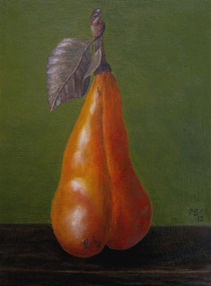 """Beurre bosc Pear I"" original fine art by Pera Schillings"