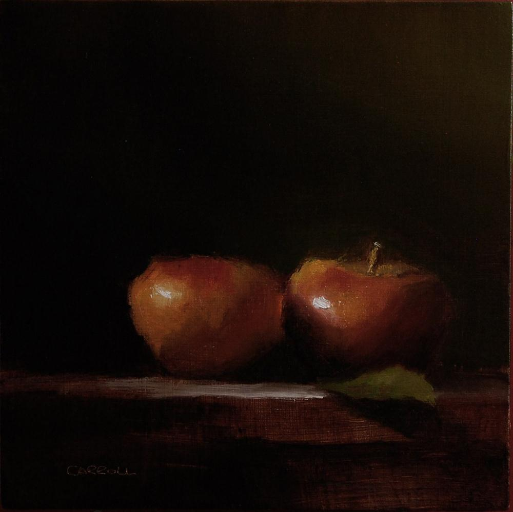 """Two Apples"" original fine art by Neil Carroll"