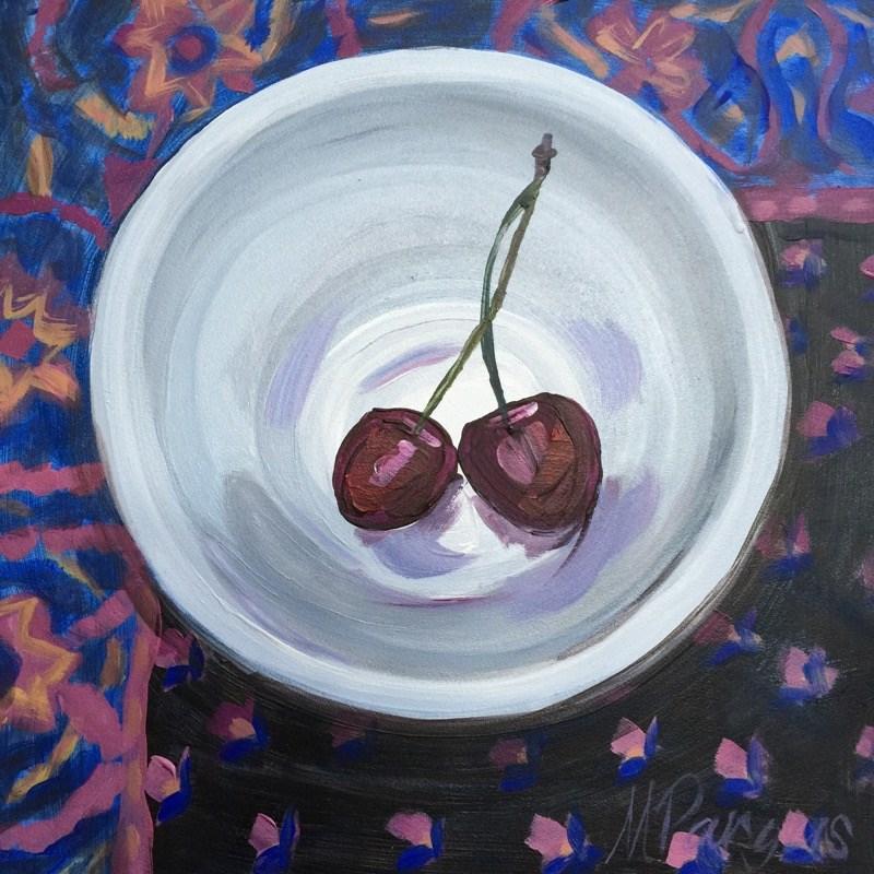 """Boho Cherry Love"" original fine art by Mary Pargas"