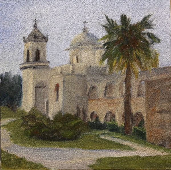"""Thursday at the Mission"" original fine art by Jane Frederick"