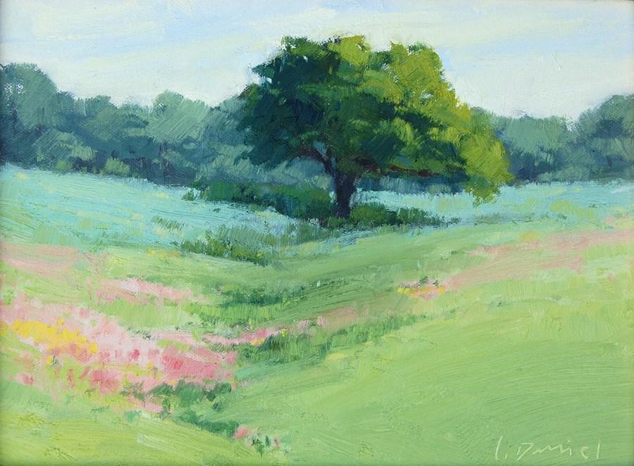 """Morning Splendor - Quick Draw in Dallas"" original fine art by Laurel Daniel"