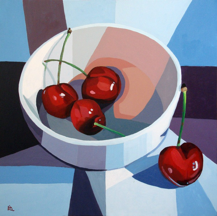 """""""life is a bowl of cherries"""" original fine art by Ria Hills"""
