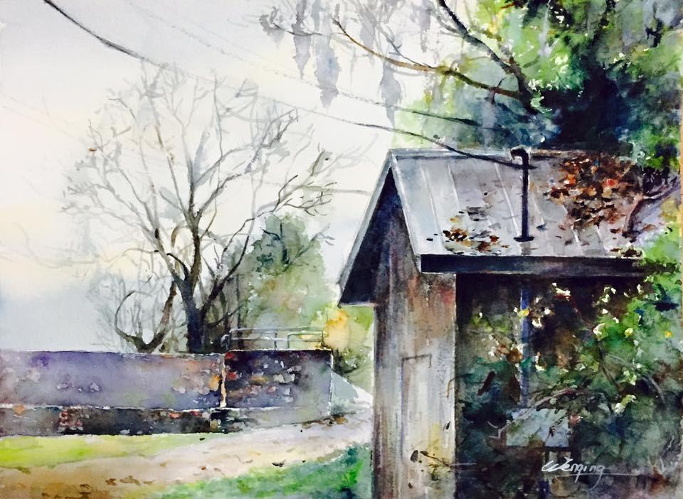 """Augusta Canal"" original fine art by Wenqing Xu"