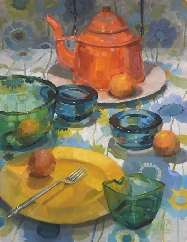 """Encircled"" original fine art by Martha Cowan"