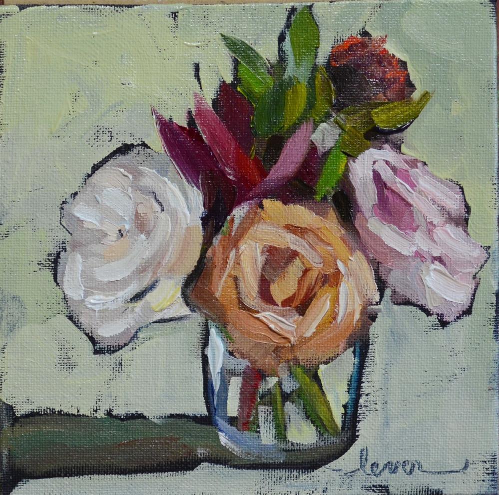 """Wedding Flowers One"" original fine art by Martha Lever"