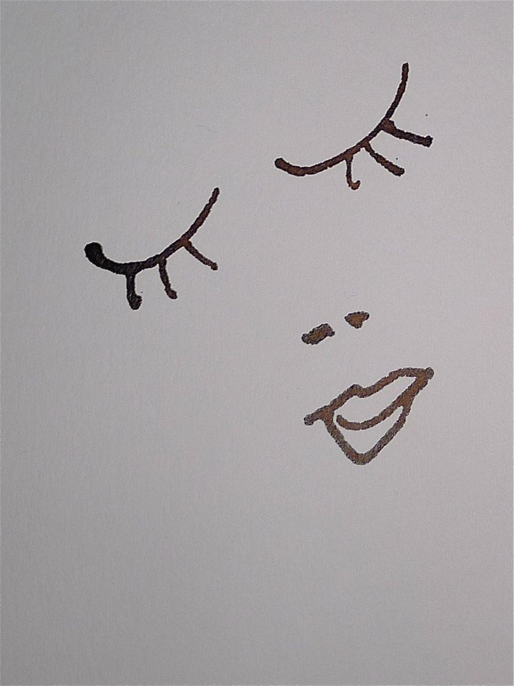 """Face #4"" original fine art by Ulrike Schmidt"