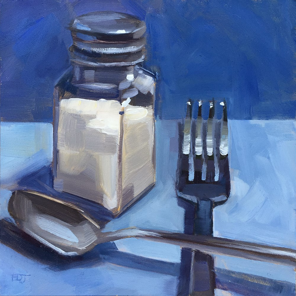 """Cornered"" original fine art by Elizabeth Dawn Johnston"
