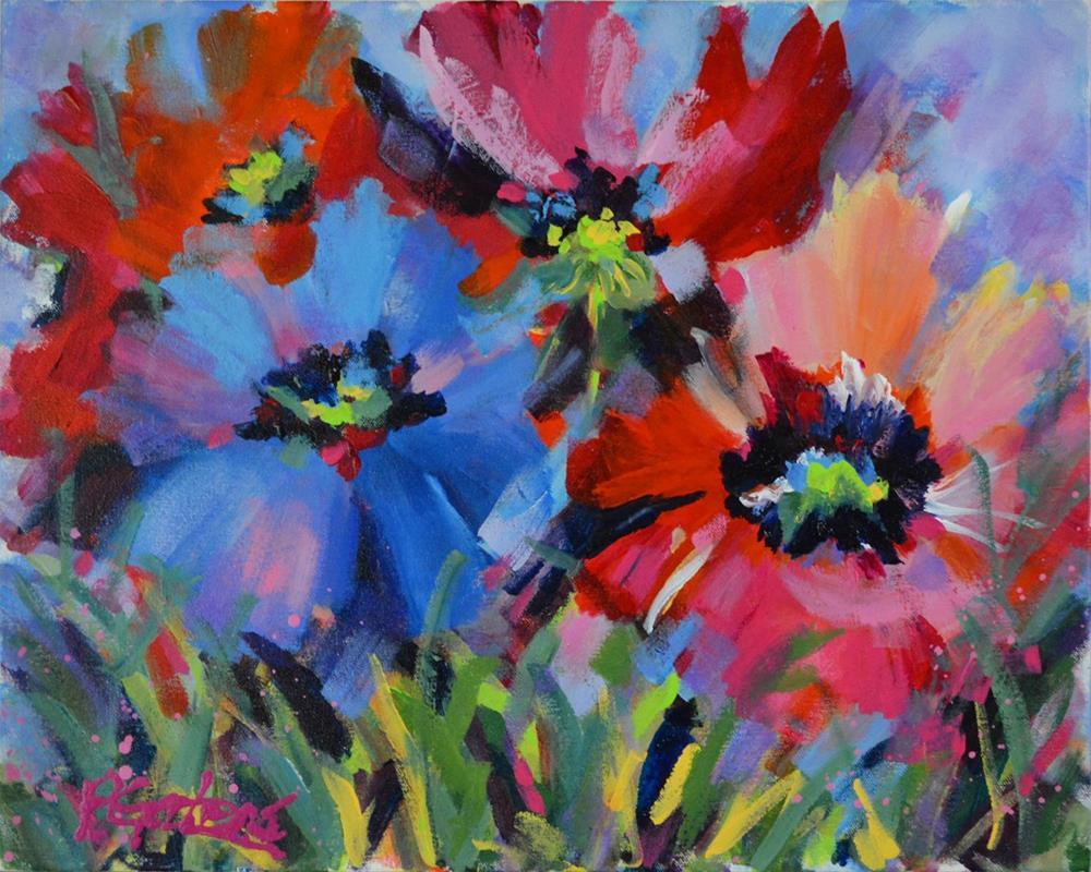 """Plenty of Poppies"" original fine art by Pamela Gatens"