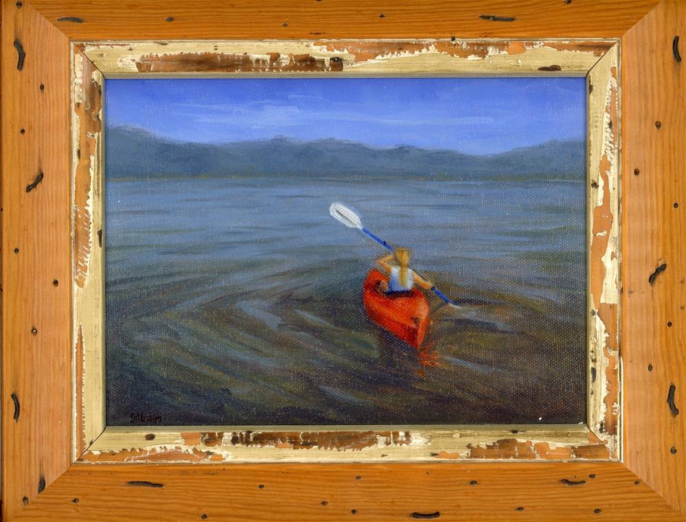 """first paddle"" original fine art by Susanne Billings"