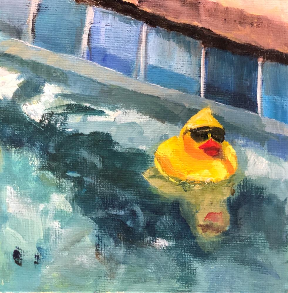 """Summer Duckie"" original fine art by Renee Robison"