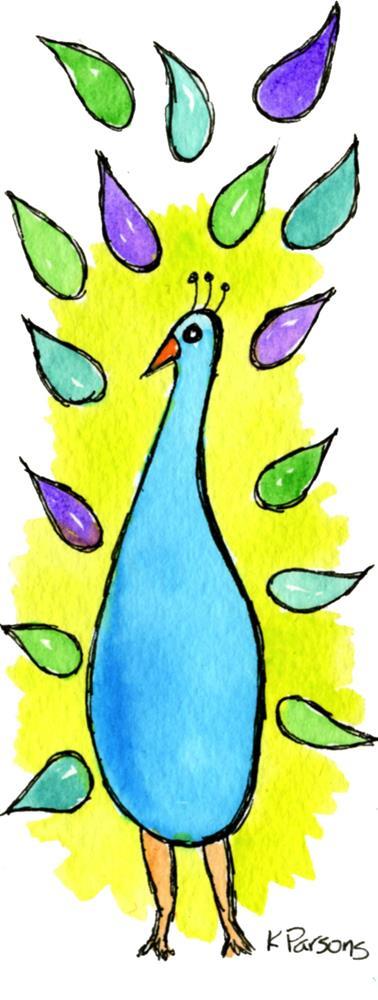 """""""Proud Peacock"""" original fine art by Kali Parsons"""