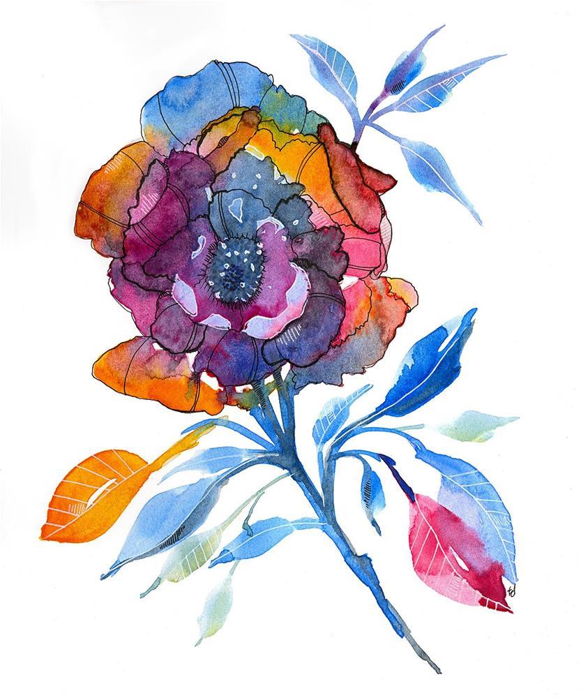 """Rainbrose"" original fine art by Tonya Doughty"