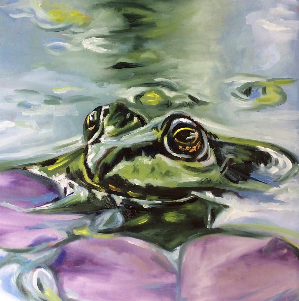 """Frog"" original fine art by Sonja Neumann"
