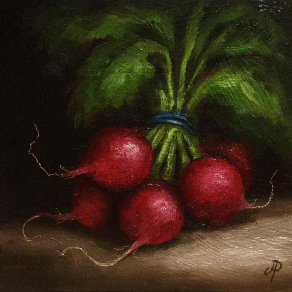 """bunch of radishes"" original fine art by Jane Palmer"