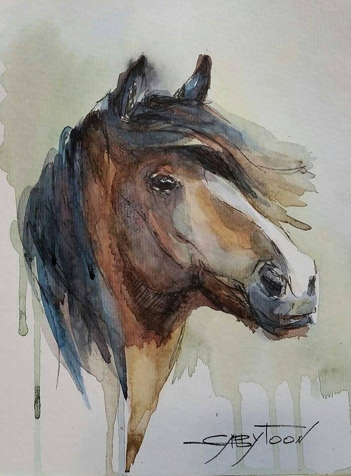 """Horse"" original fine art by Gabriella DeLamater"