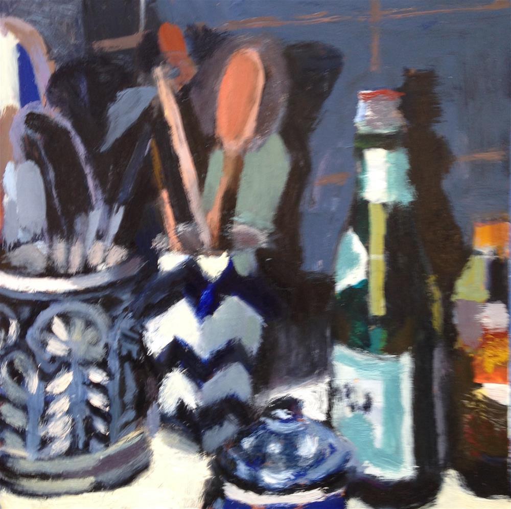 """""""Good Clutter"""" original fine art by Pamela Hoffmeister"""