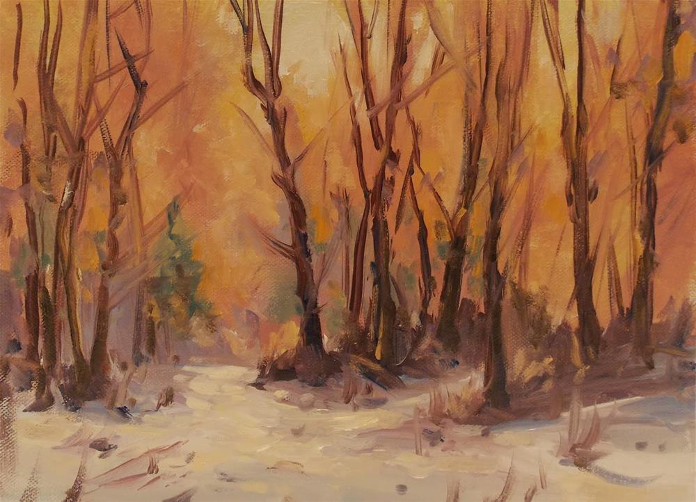 """"""" A WINTER GLOW """" original fine art by Doug Carter"""