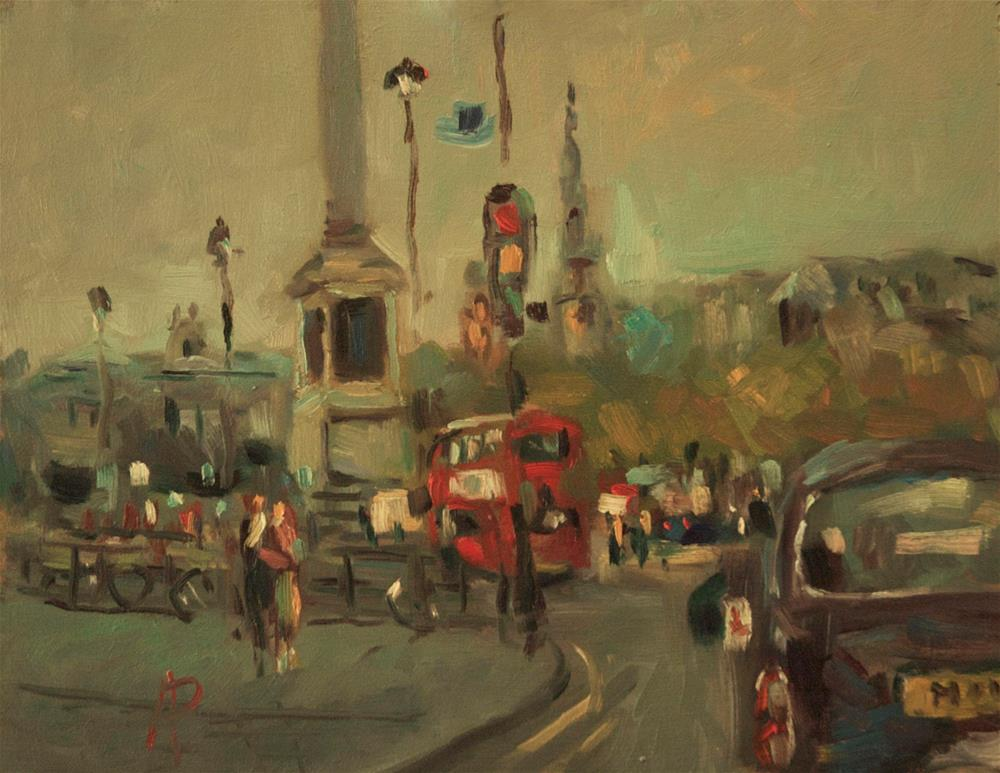 """Trafalgar Square"" original fine art by Andre Pallat"