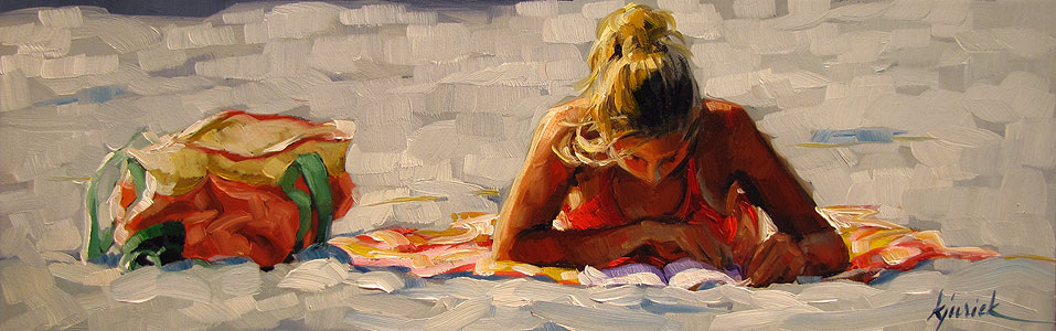 """Blond"" original fine art by Karin Jurick"