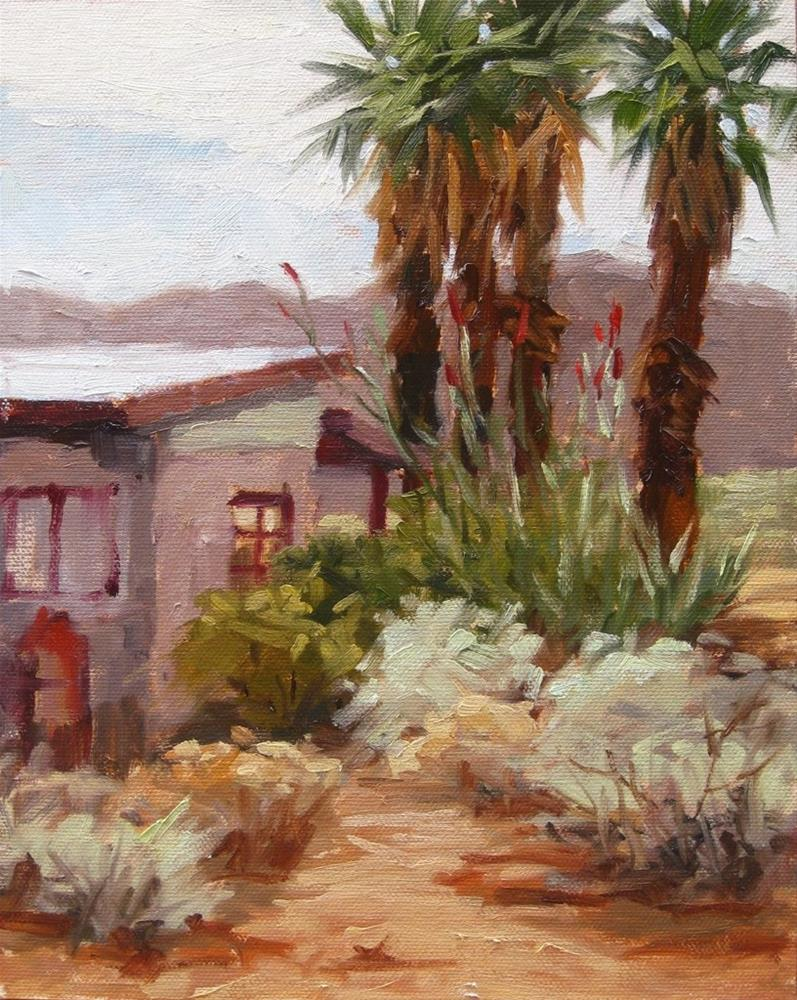 """Fan Palms"" original fine art by Karen Werner"