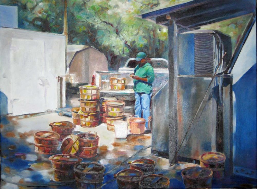 """""""crab season"""" original fine art by Wenqing Xu"""