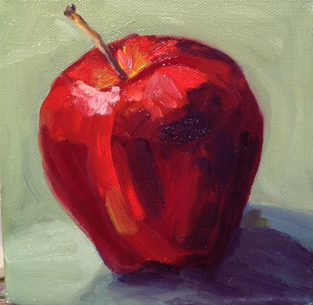 """""""Red on Green"""" original fine art by Deborah Czernecky"""