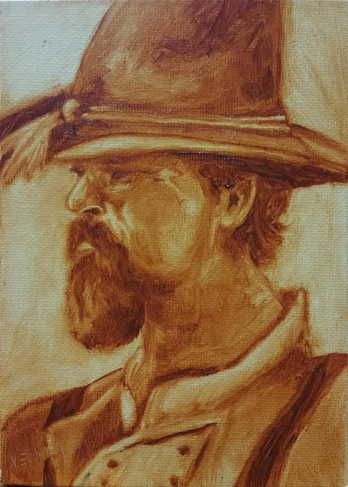 """Soldier"" original fine art by Veronica Brown"