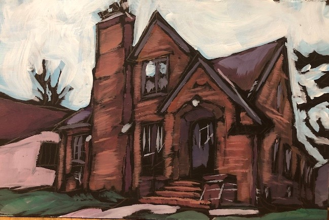 """The Brick House"" original fine art by Kat Corrigan"