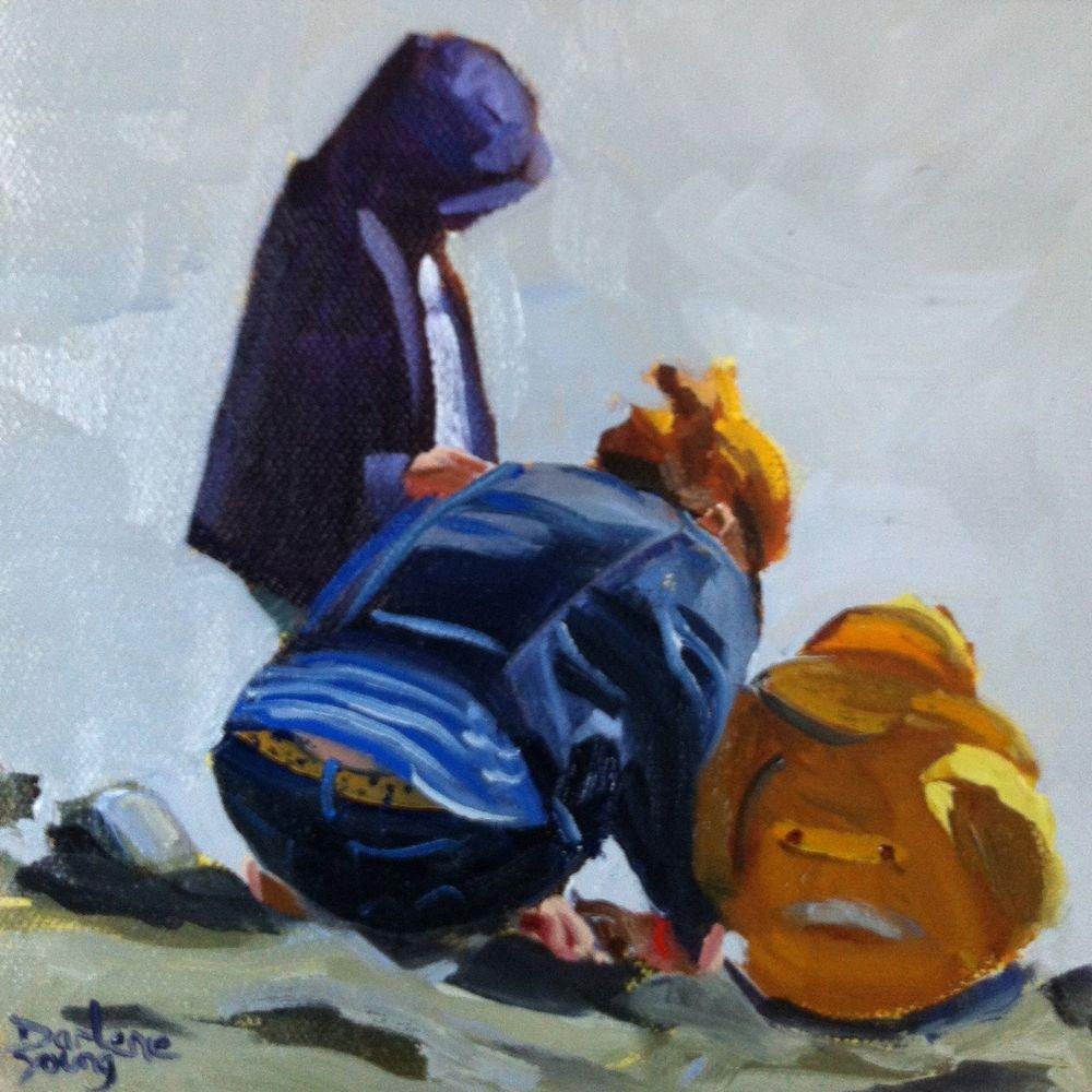 """Look"" original fine art by Darlene Young"