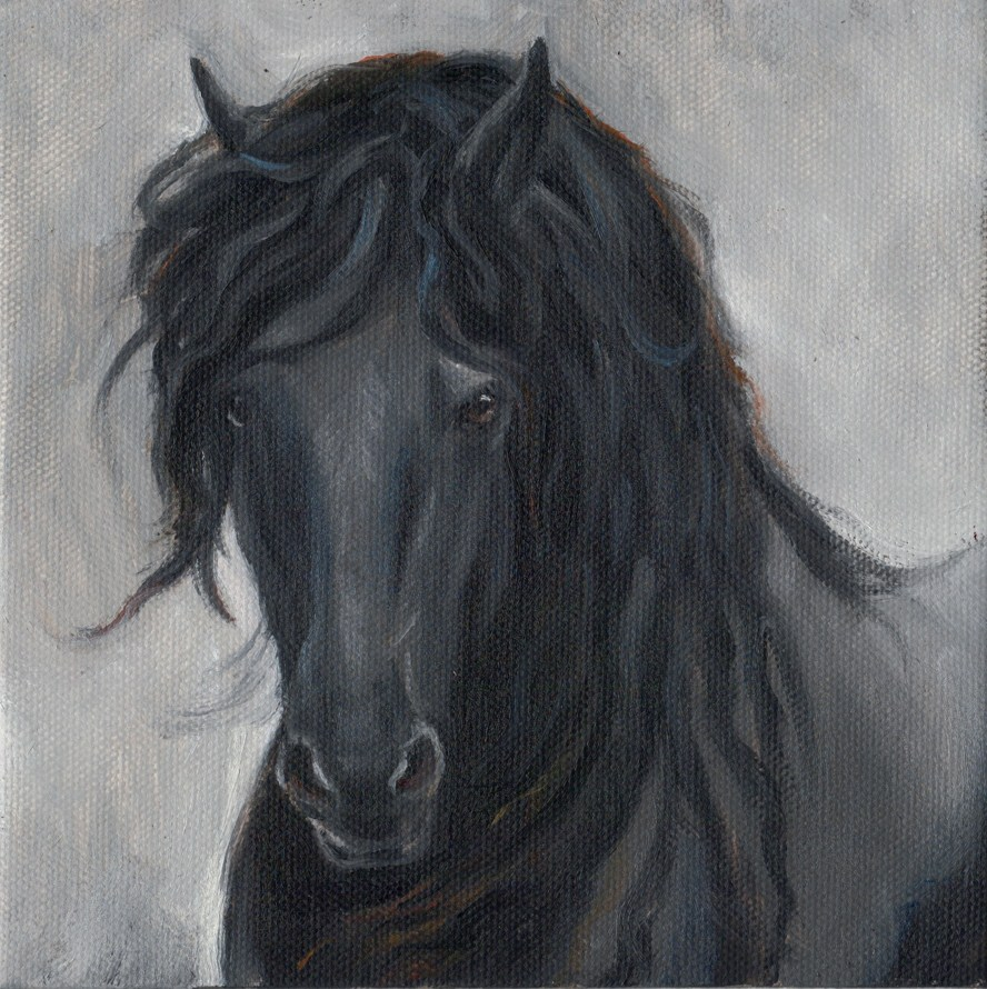 """Black Beauty"" original fine art by Tahirih Goffic"