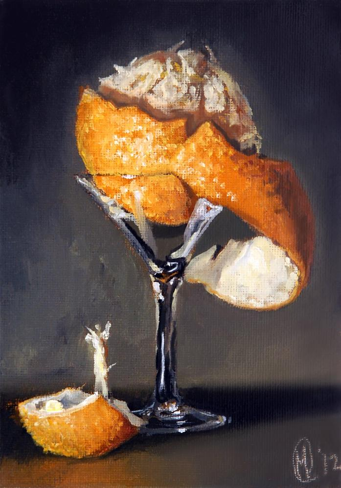"""Martini Orange"" original fine art by Maurice Morgan II"