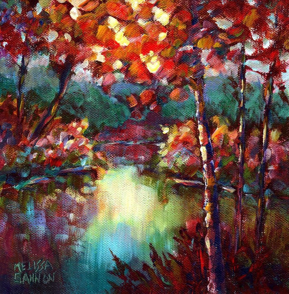"""Dance of Red & Green"" original fine art by Melissa Gannon"