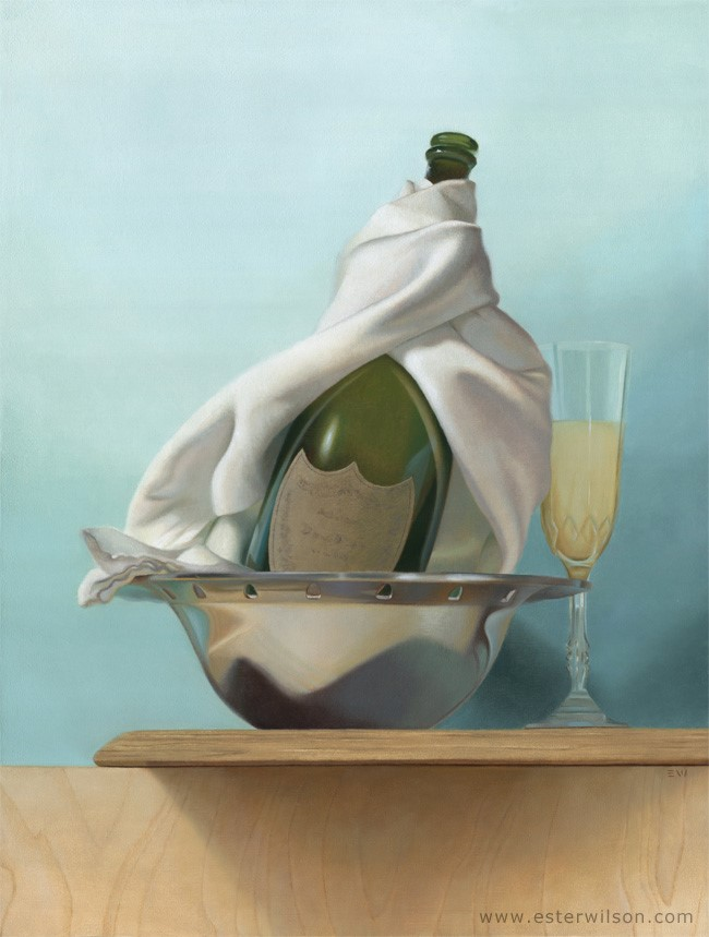 """Silver and Gold"" original fine art by Ester Wilson"