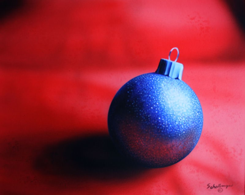 """Holiday Sparkle"" original fine art by Fred Schollmeyer"