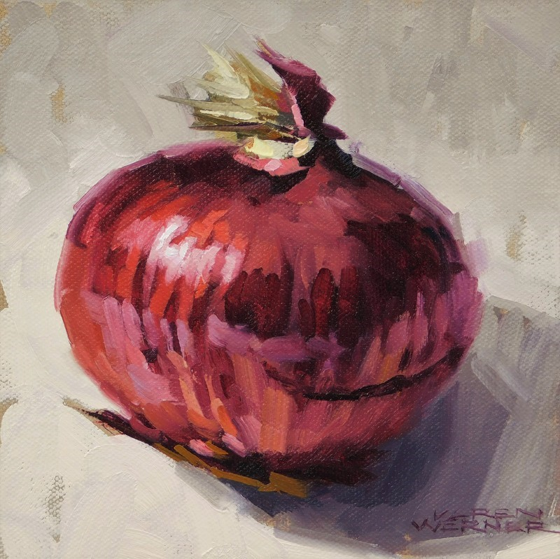 """Red Onion"" original fine art by Karen Werner"