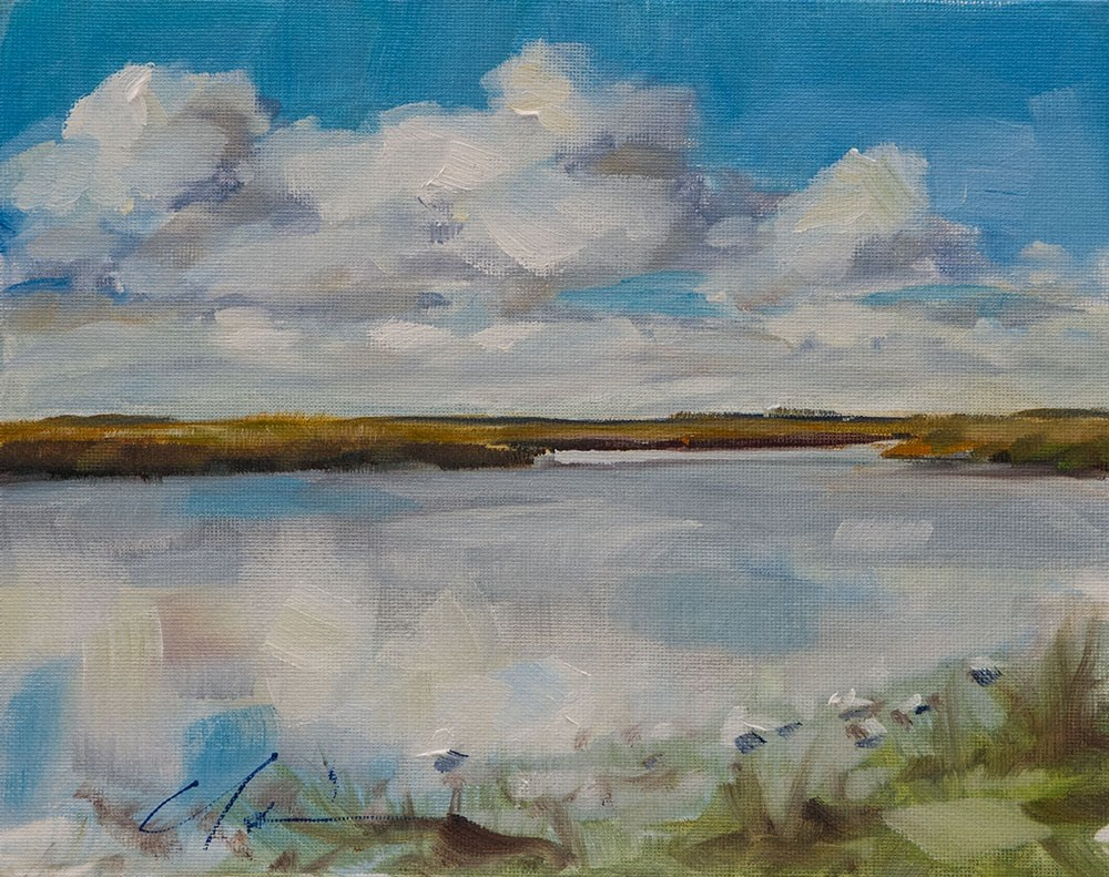 """Marsh Reflections"" original fine art by Clair Hartmann"