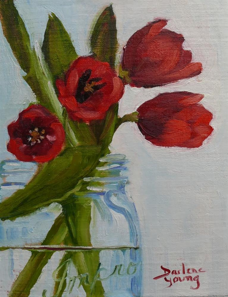 """705 Red Tulips"" original fine art by Darlene Young"