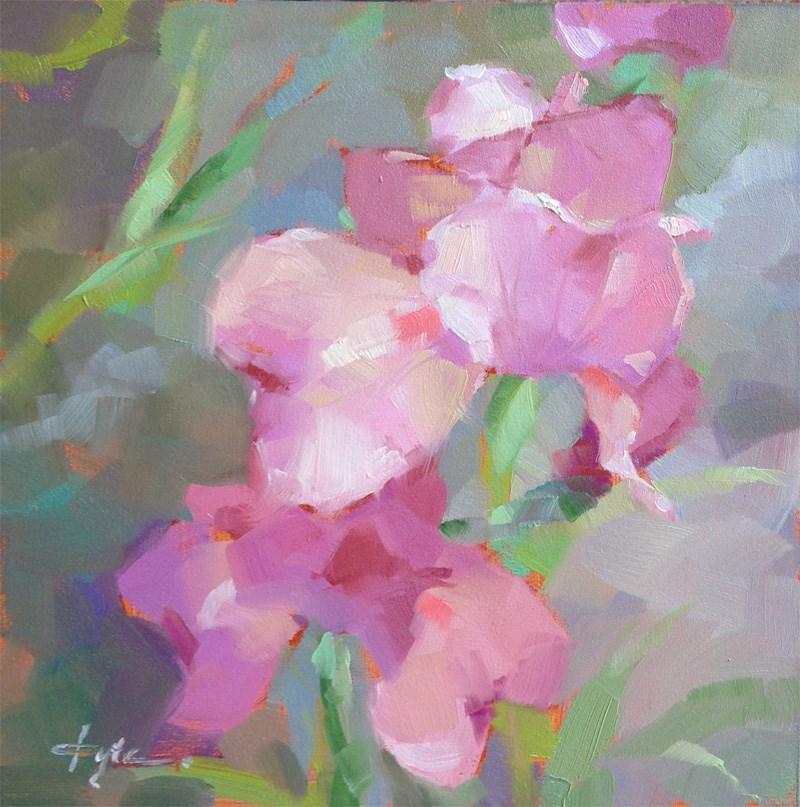 """Row of Irises"" original fine art by Katia Kyte"