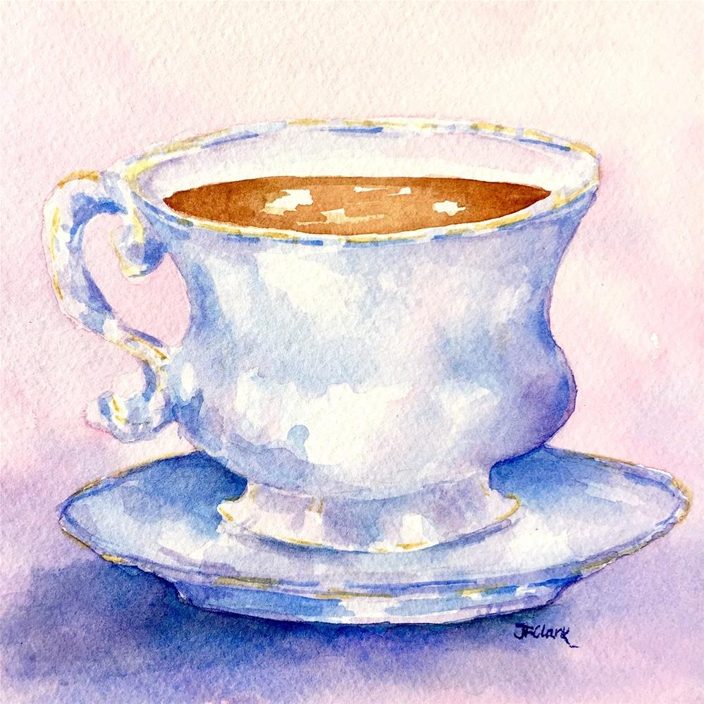 """Just my Cup of Tea"" original fine art by Judith Freeman Clark"