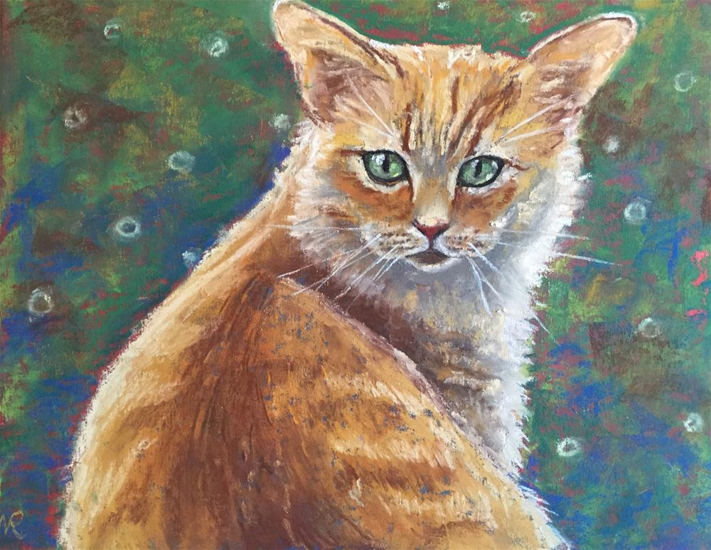 """Orange tubby"" original fine art by Natasha Ramras"
