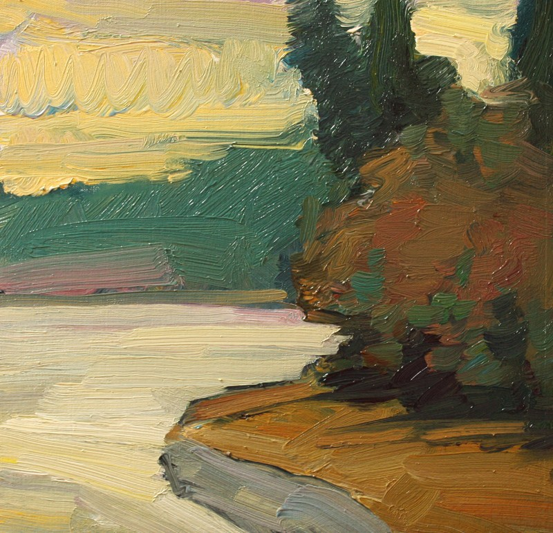 """Zangle Rainy Day"" original fine art by Kathryn Townsend"