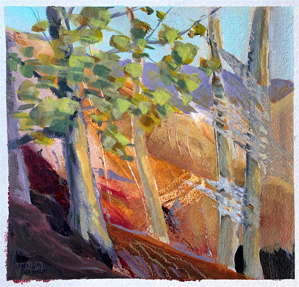 """Top of the Hill"" original fine art by Melissa Gannon"