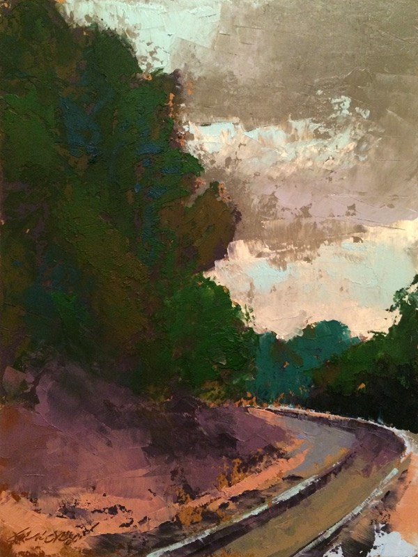 """""""Five Points Crossing"""" original fine art by Mary Gilkerson"""