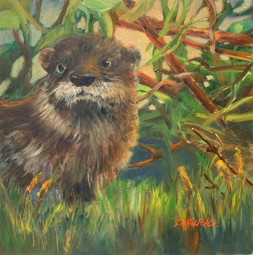 """""""Otter 2"""" original fine art by Diane Hutchinson"""