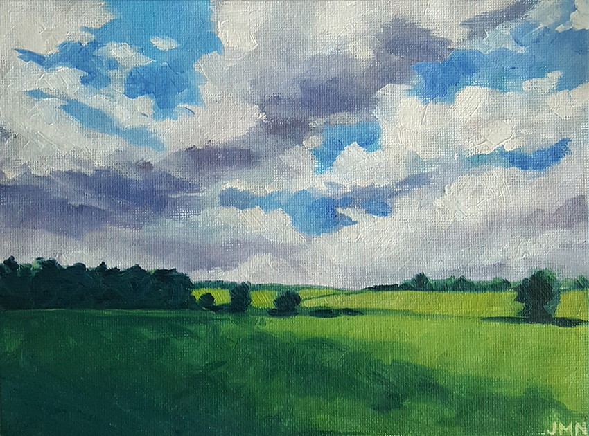 """Cloud Shadows"" original fine art by J M Needham"