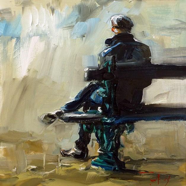 """Sitzender"" original fine art by Jurij Frey"
