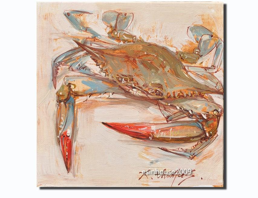 """Blue Crab"" original fine art by Thomas Xie"