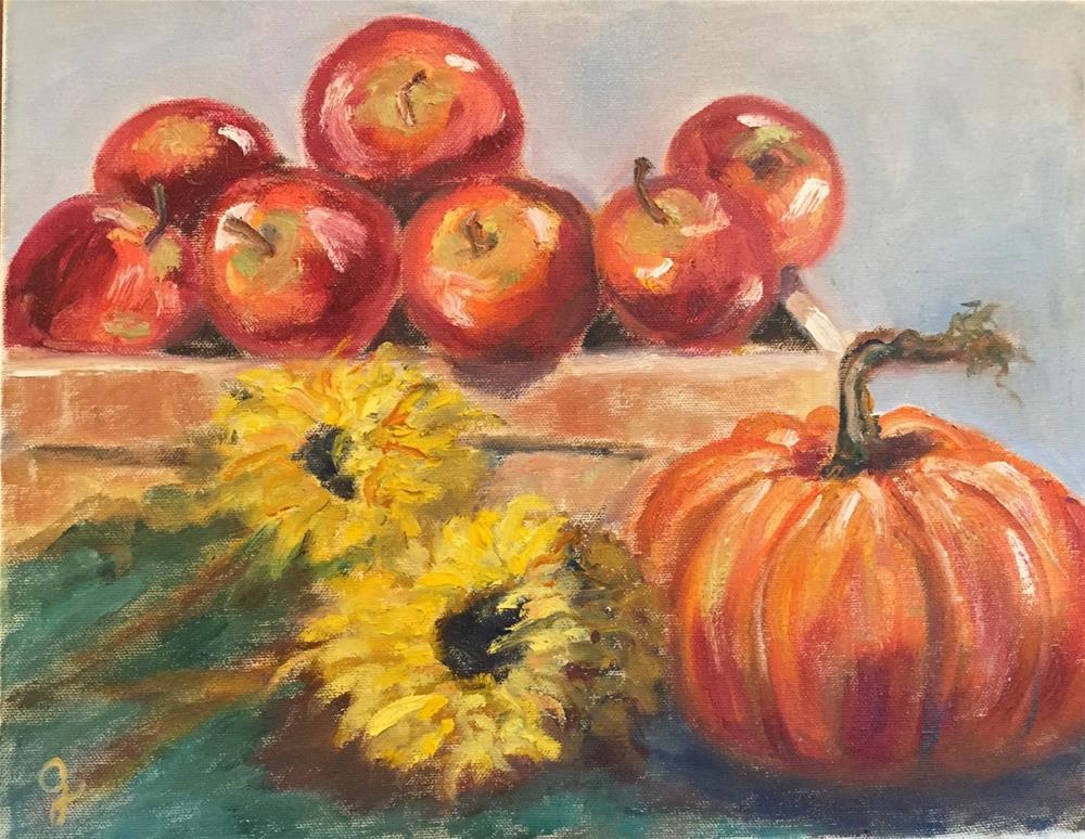 """Fall Blessings"" original fine art by Gayle Lambeth"
