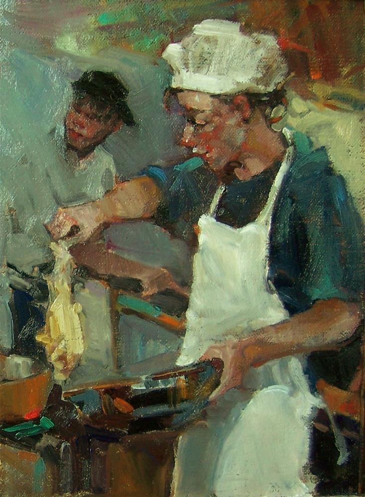 """""""Bigger Fish To Fry"""" original fine art by Kim Roberti"""